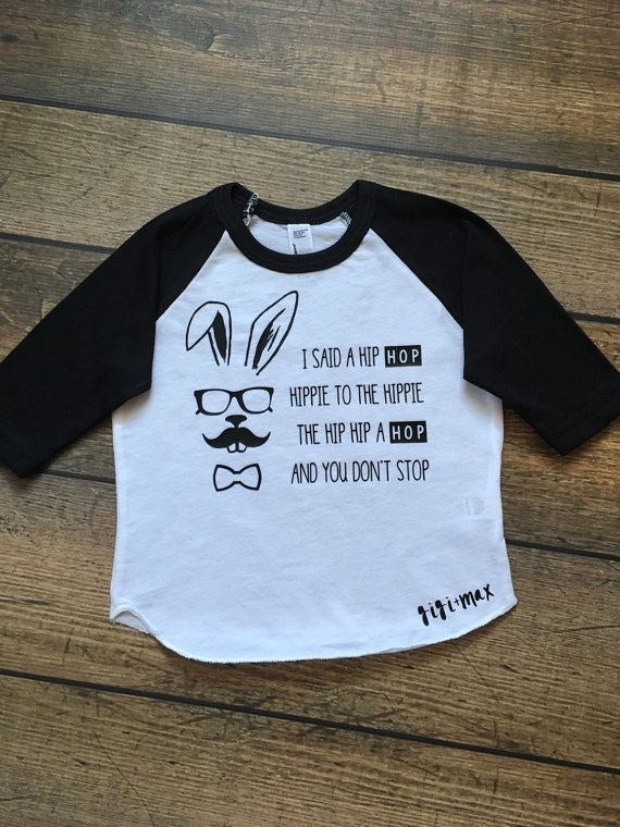 Hipster Bunny Raglan Easter Tshirt Little Boy Or By
