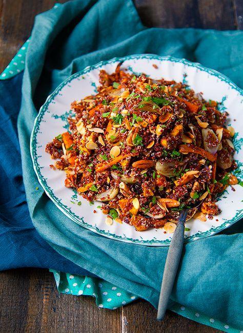 Salade gourmande au quinoa | Salade gourmande, Cuisiner le ...