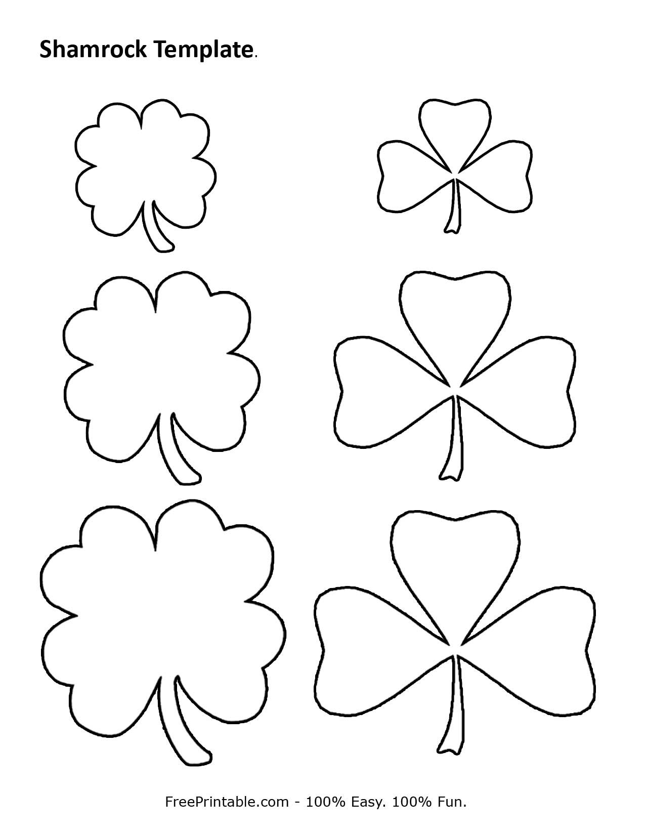 Customize Your Free Printable Shamrock Template