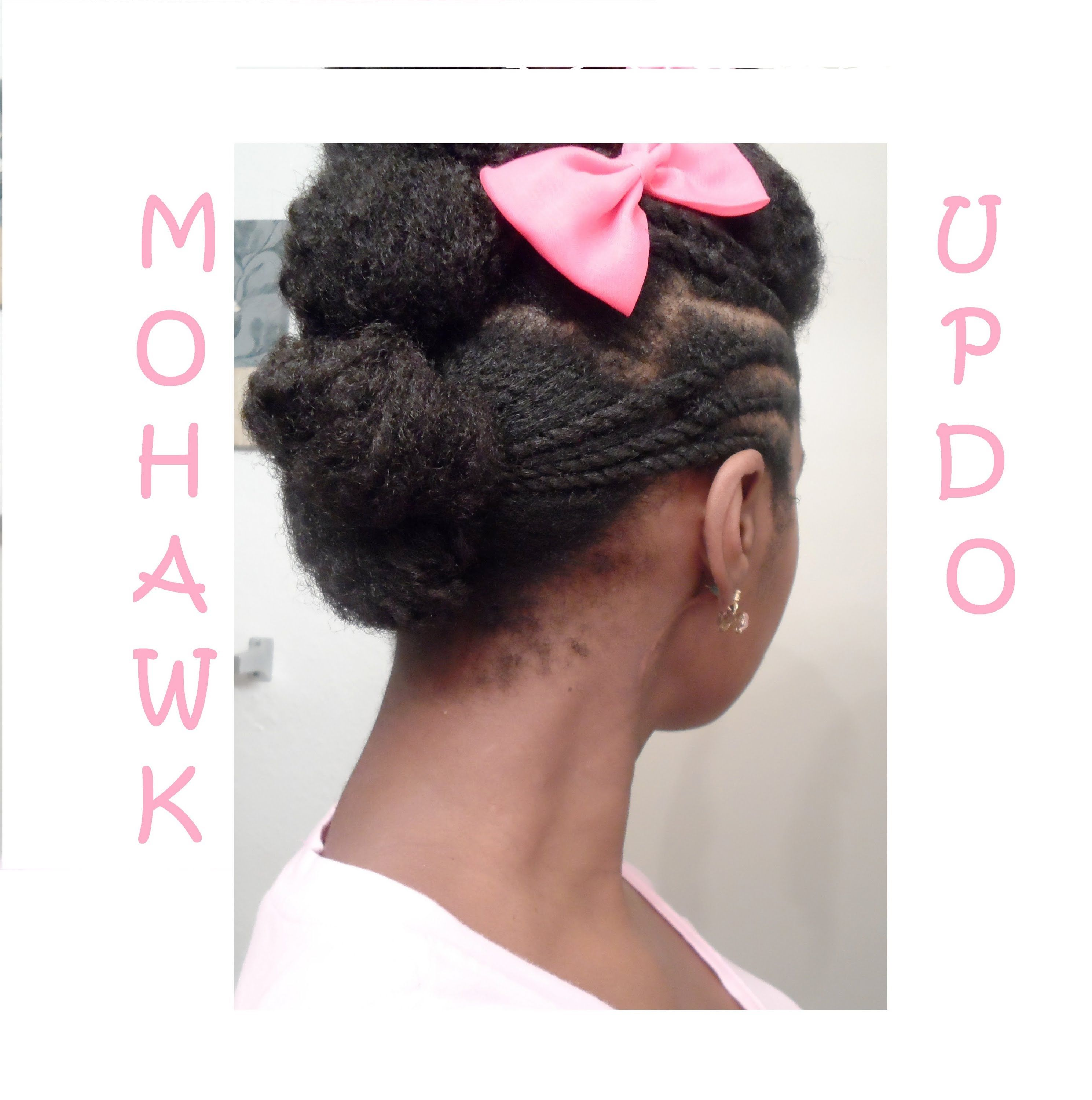 Mohawk Bun Updo Protective Hairstyle 9