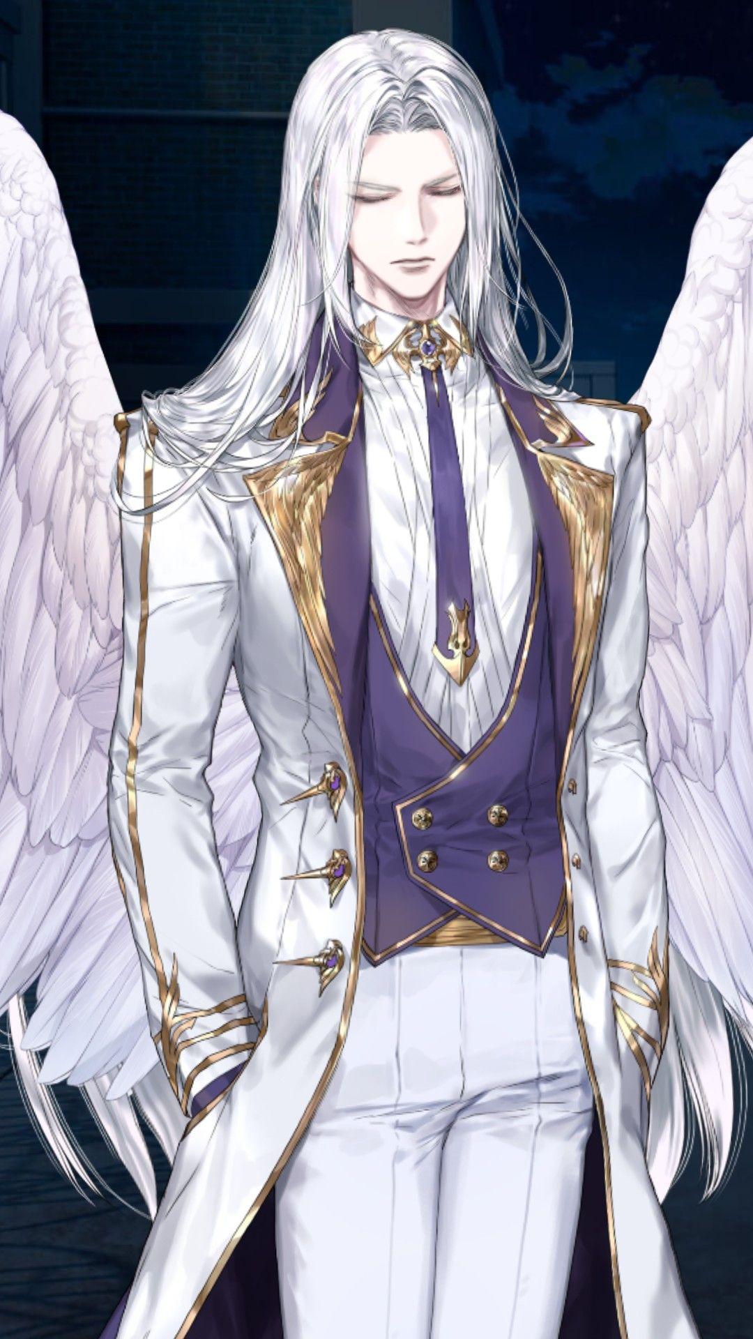 Pin By Daya A On Anime King White Hair Anime Guy Handsome Anime Guys Handsome Anime