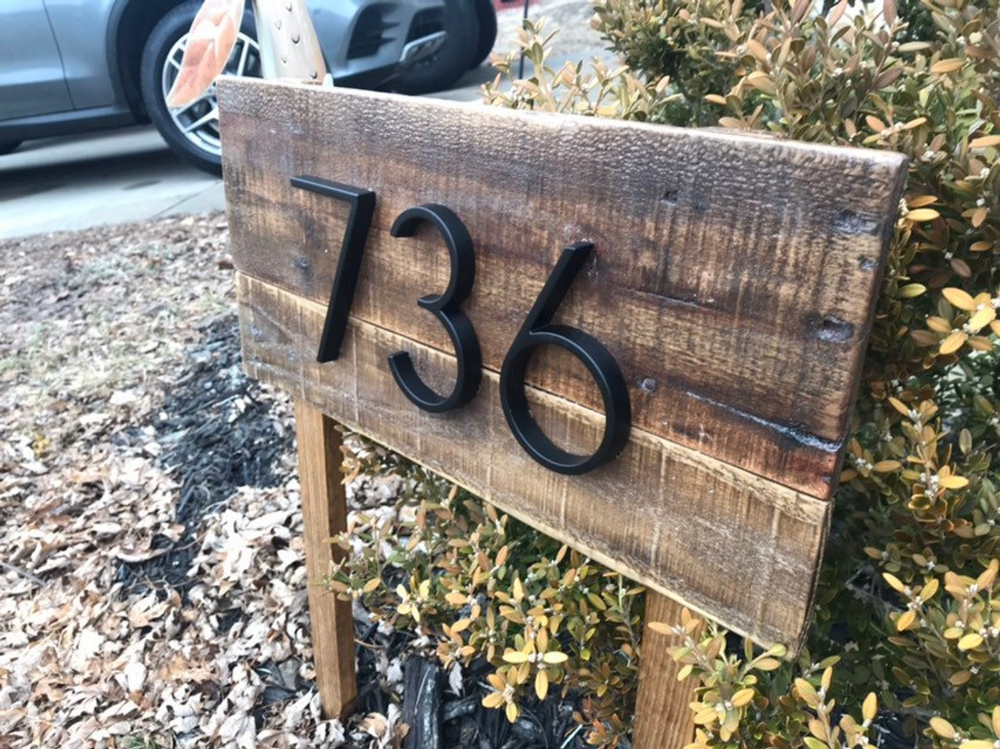 Address Stake Reclaimed Wood Address Sign For Garden Farmhouse House Number Yard Sign Wood Address Sign Metal Numbers Driveway Sign Address Signs For Yard Driveway Sign Address Sign
