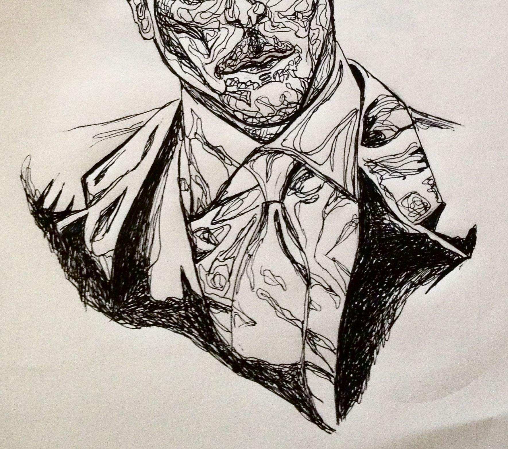pen contour suit man art drawing Art