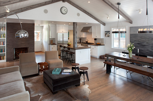 Modern Rustic Interiors Defining Elements Of The Modern Rustic Home Open Concept Kitchen Living Room Open Concept Living Room Open Plan Kitchen Dining