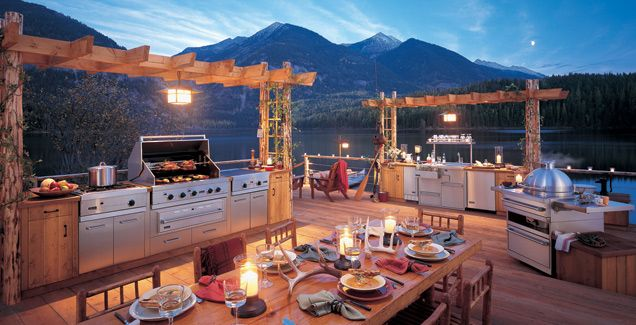 Out Door Kitchens | Outdoor Kitchen Designs Amazing View And Very Nice Size For