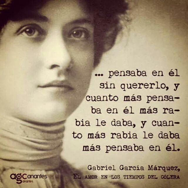 Pensaba En él Garcia Marquez Frases Poemas Gabriel Garcia
