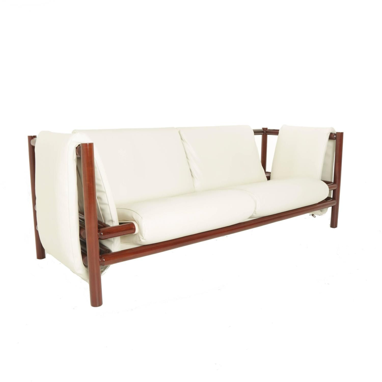 Loose Mantle Sofa in Solid Pau Ferro by Joaquim Tenreiro in 2018