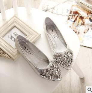 314521edcdc3 Available in Large Sizes NEW Fashion Flats Shoes Women Ballet Princess  Shoes For Casual Crystal Boat Shoes Rhinestone Women Flats PLUS Size