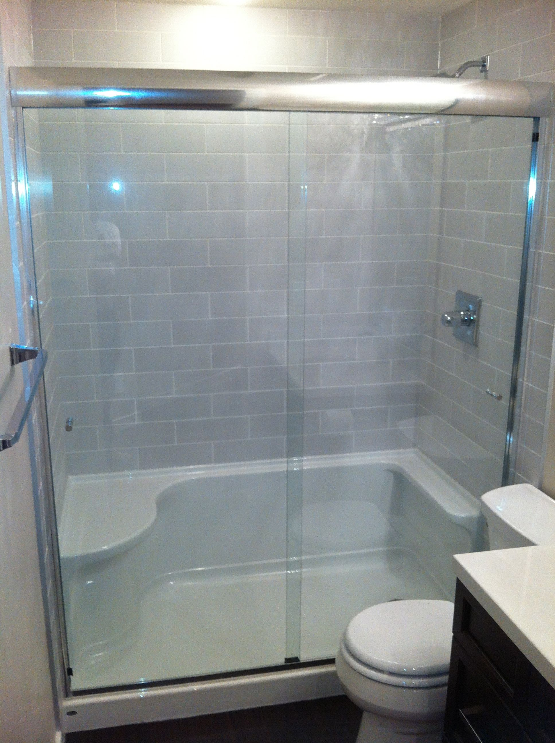Bathroom showers and tubs - Tile Shower Tub To Shower Conversion Bathroom Renovation