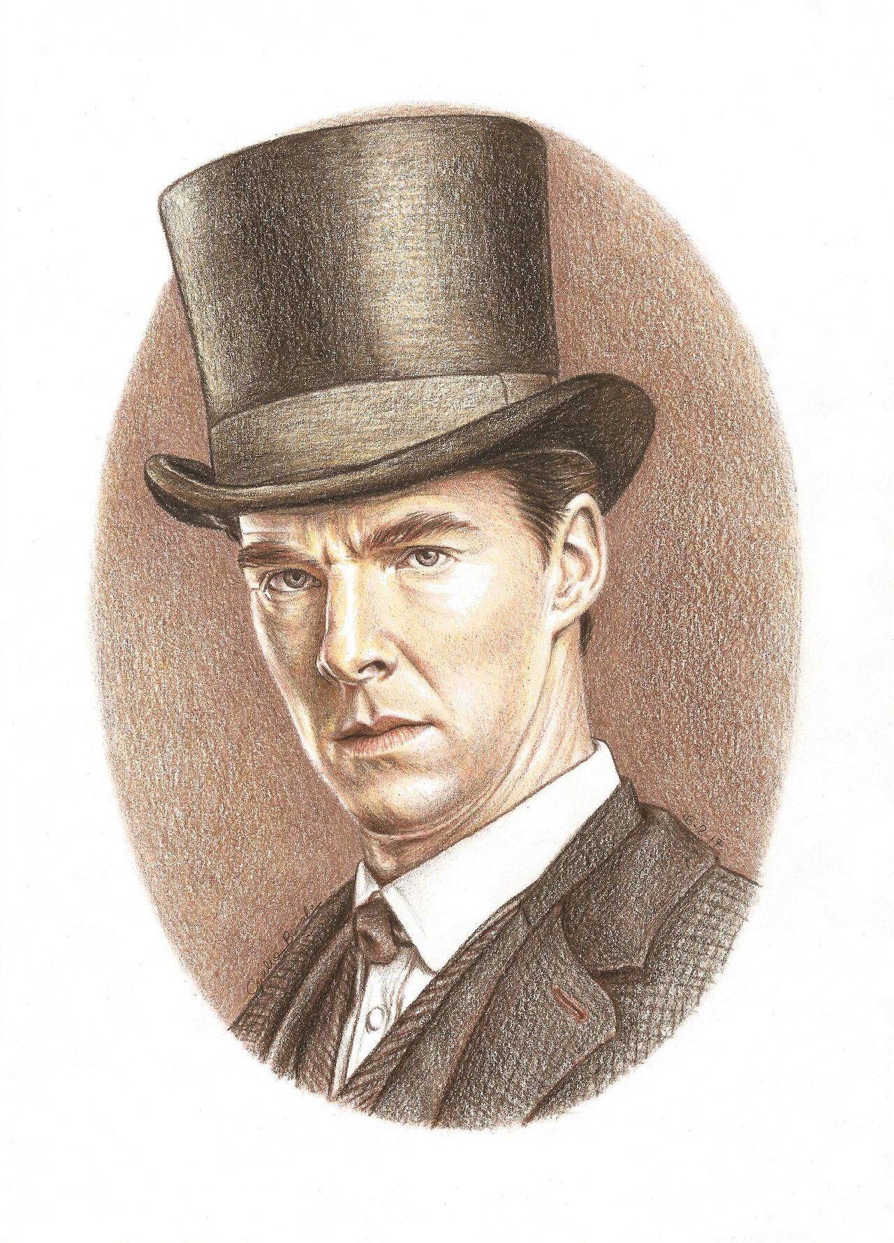 """E é sempre 1895"" Eu desenhei o Dr. Watson eo Sr. Holmes ao mesmo tempo, mudando de um para o outro (quase) cada vez que eu mudei de cor.  Todos os tipos de marrom estavam envolvidos.  Dr. John Watson: [x]"