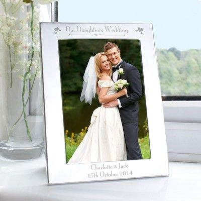 Wedding Silver Plated Photo Frames Various Roles Personalised Engraved Gift
