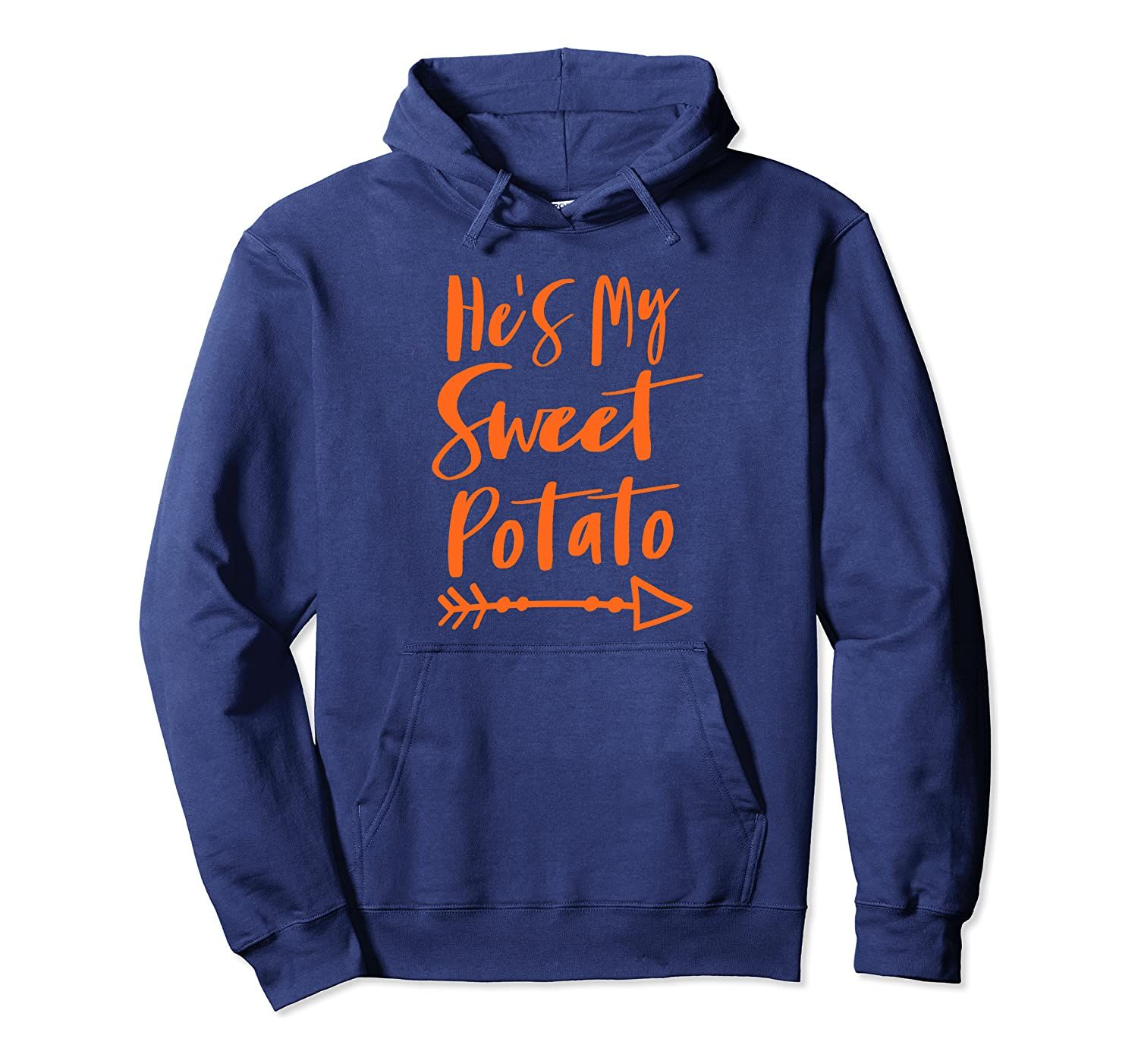 He's My Sweet Potato Halloween Thanksgiving Matching Couple Pullover Hoodie