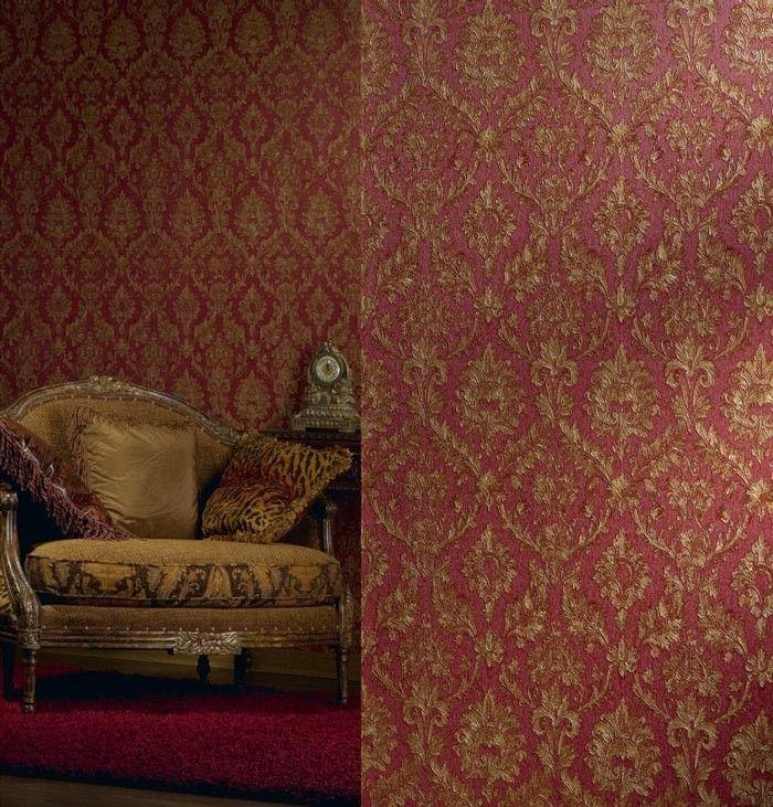 Schlafzimmer Rot Gold - Design