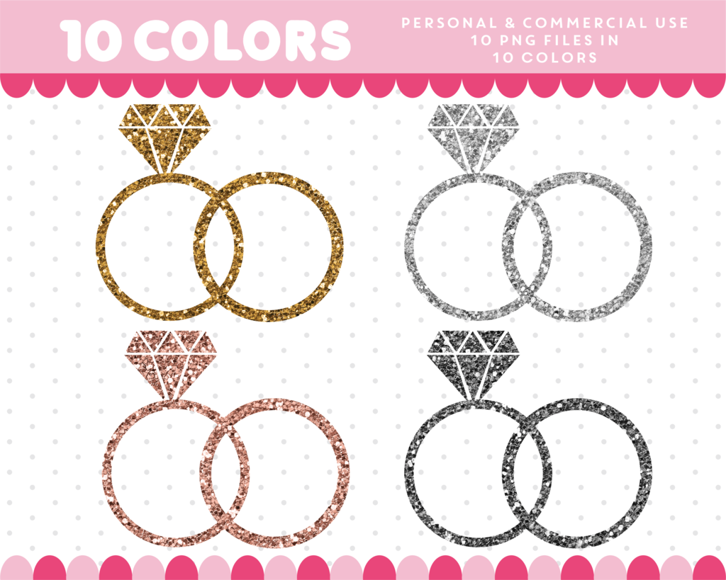 medium resolution of wedding rings clipart in gold and silver glitter glitter clipart cl 1744