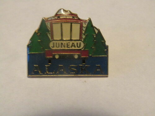 Details about Juneau Alaska Souvenir Stamped Pin in 2020