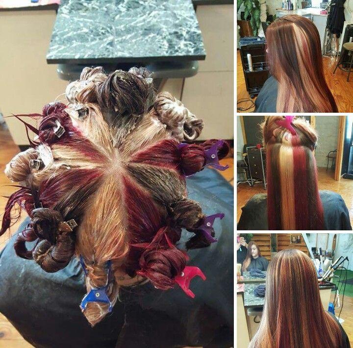 Pinwheel technique | hair | Pinterest | Hair coloring, Hair style ...