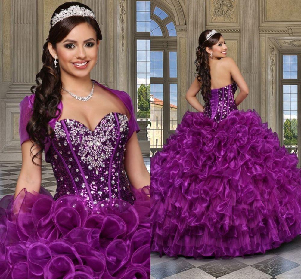Pin de Girl Quinceanera en Purple Quinceanera Dresses,Purple Sweet15 ...