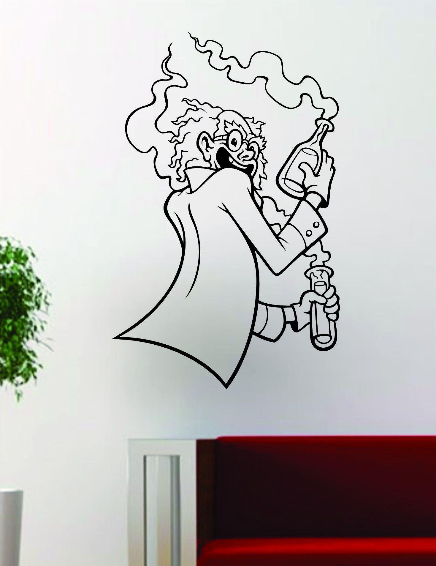 Mad Scientist Design Art Science School Decal Sticker Wall Vinyl Decor