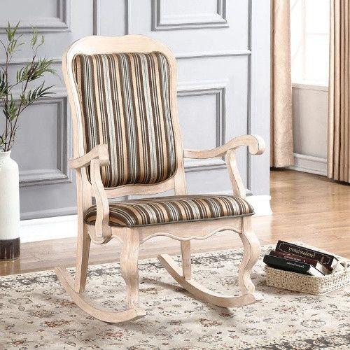 Acme Furniture Sharan Rocking Chair Stripe decor