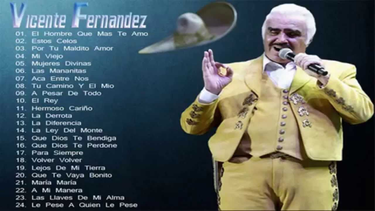Vicente Fernández Sus Mejores Éxitos - Romanticas