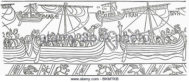 William The Conqueror Sailing For England In 1066 From The Bayeux