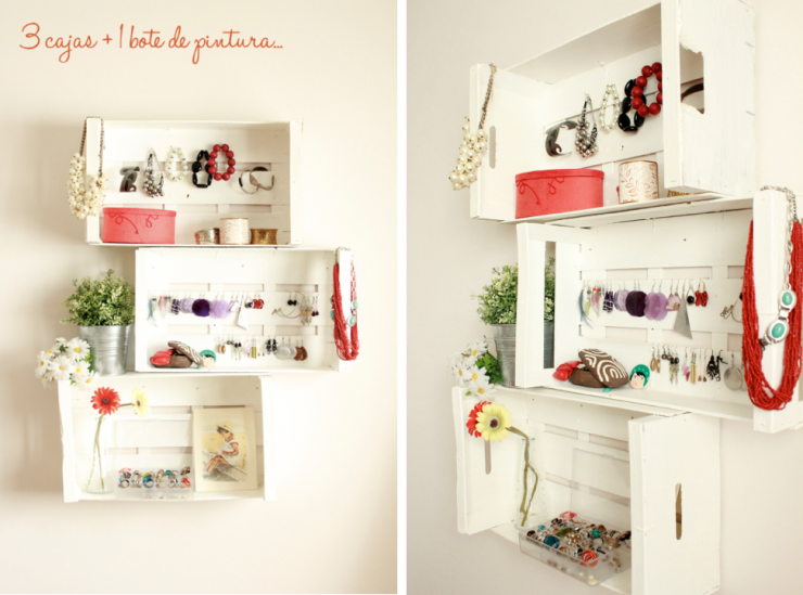 Imagen estanter a con cajas de fruta 01 diy pinterest - Decorar con cajas de frutas ...