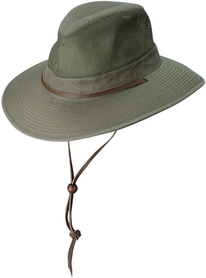 b4827ff87e015 Men s Dorfman Pacific Brushed Twill Safari Hat - Green in 2019 ...