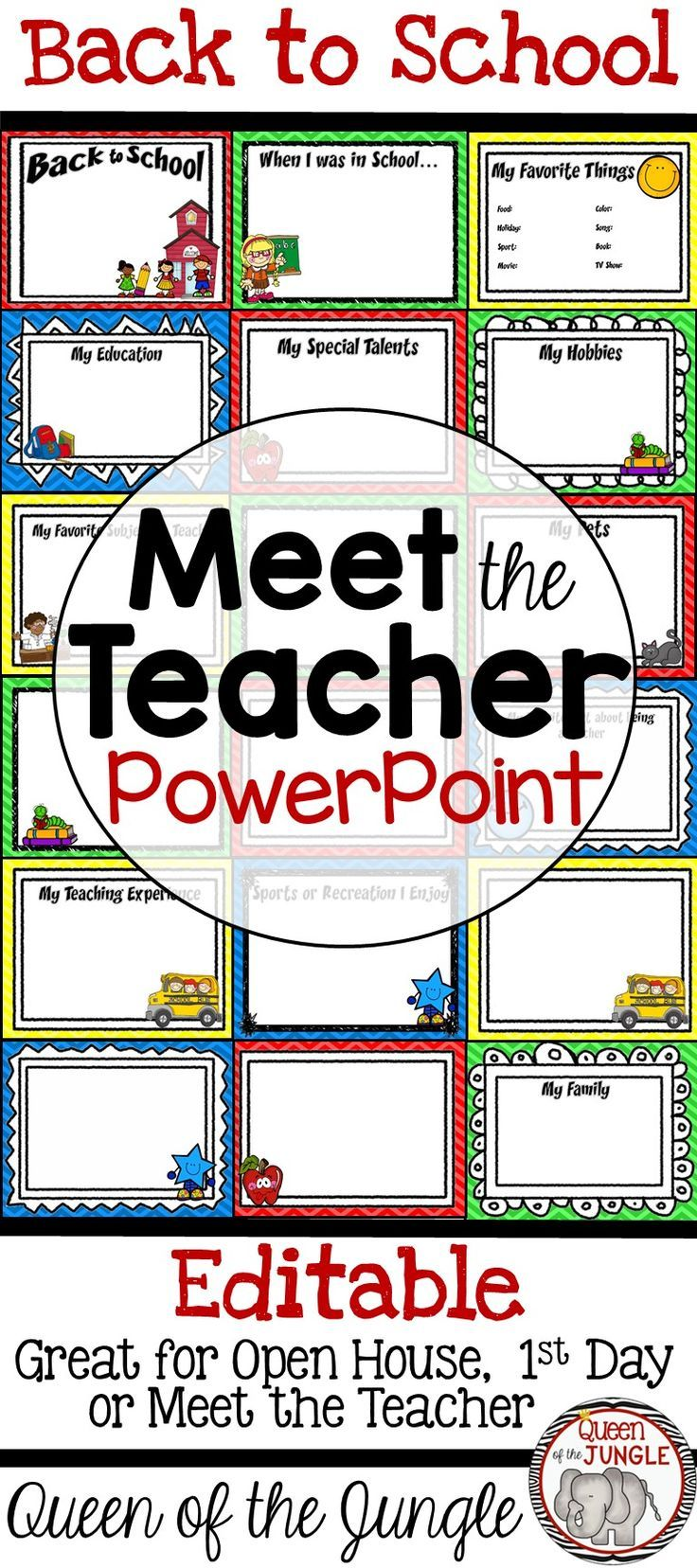 Back To School Meet The Teacher Editable Powerpoint Template Back