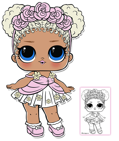 click to download coloring sheet lol doll pinterest flower