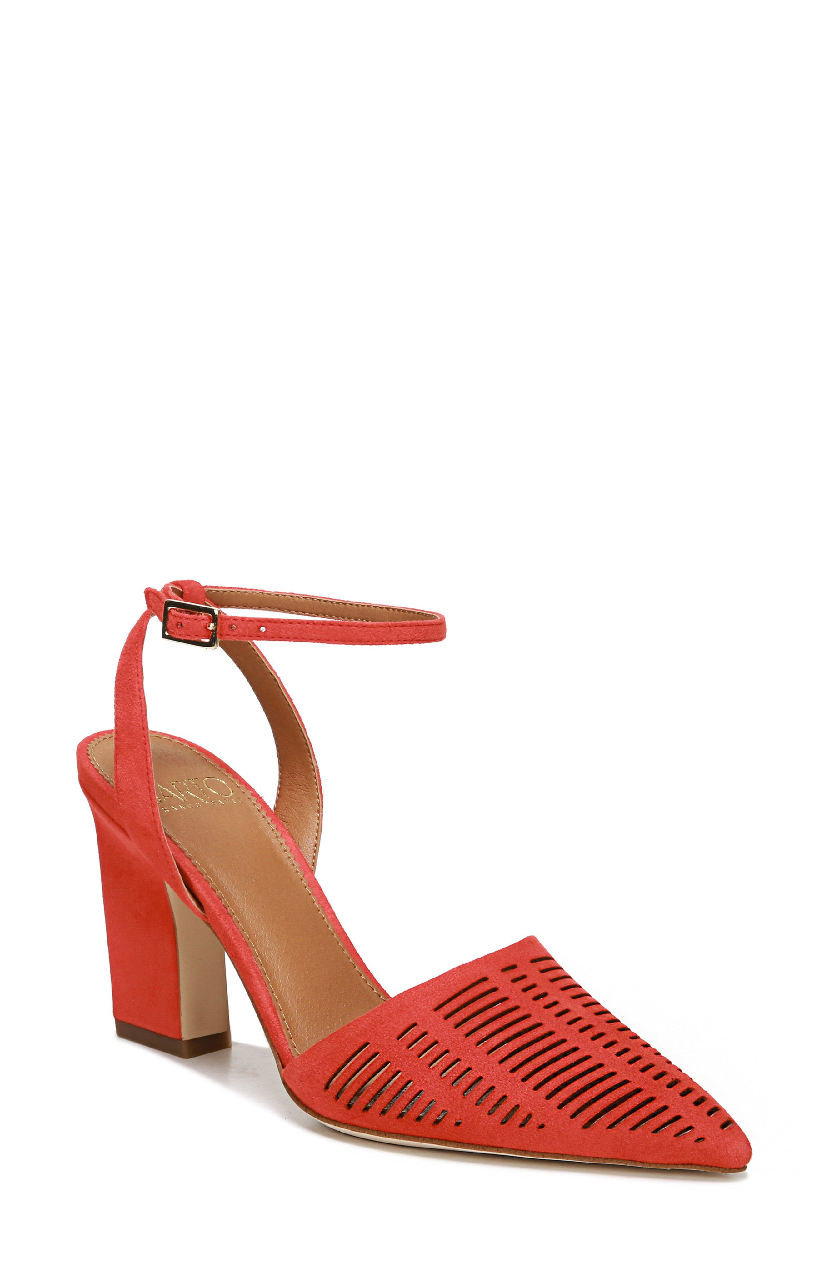 2ef1bdfb9 Women's Sarto By Franco Sarto Starla Ankle Strap Pump, Size 7.5 M - Red