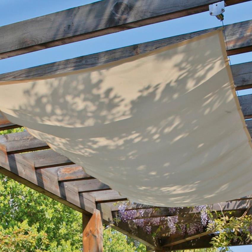 Sonnenschutz Im Garten unsere seilspannmarkise bietet einen ausgezeichneten sonnenschutz