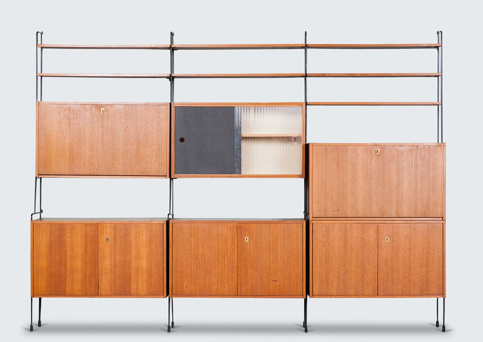Image result for german teak wall unit | Danish cases and cabinets ...