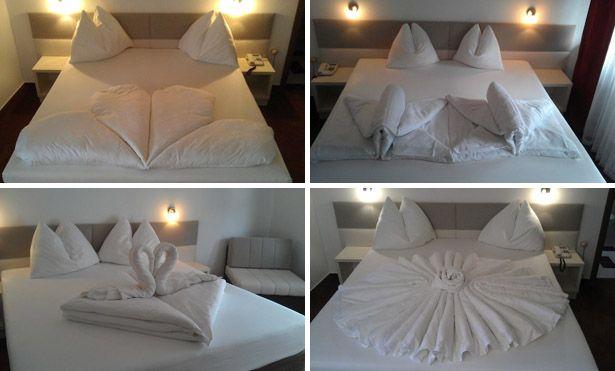 How To Make A Creative Origami Decoration On Your Bed Decoracao De Casa Decoracao De Quarto Decoracao Dia Dos Namorados