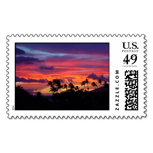 Kihei Sunset 2 Postage. It is really great to make each letter a special delivery! Add a unique touch to invites or cards with your own photos or text. Just click the image to learn more!