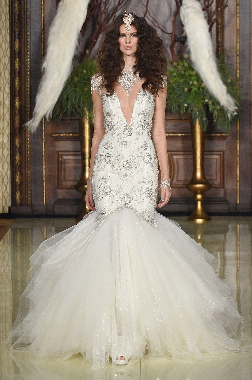 Long wedding reception dresses for the bride  Galia Lahav Runway  Bridal Market NYC SS BridalMarket