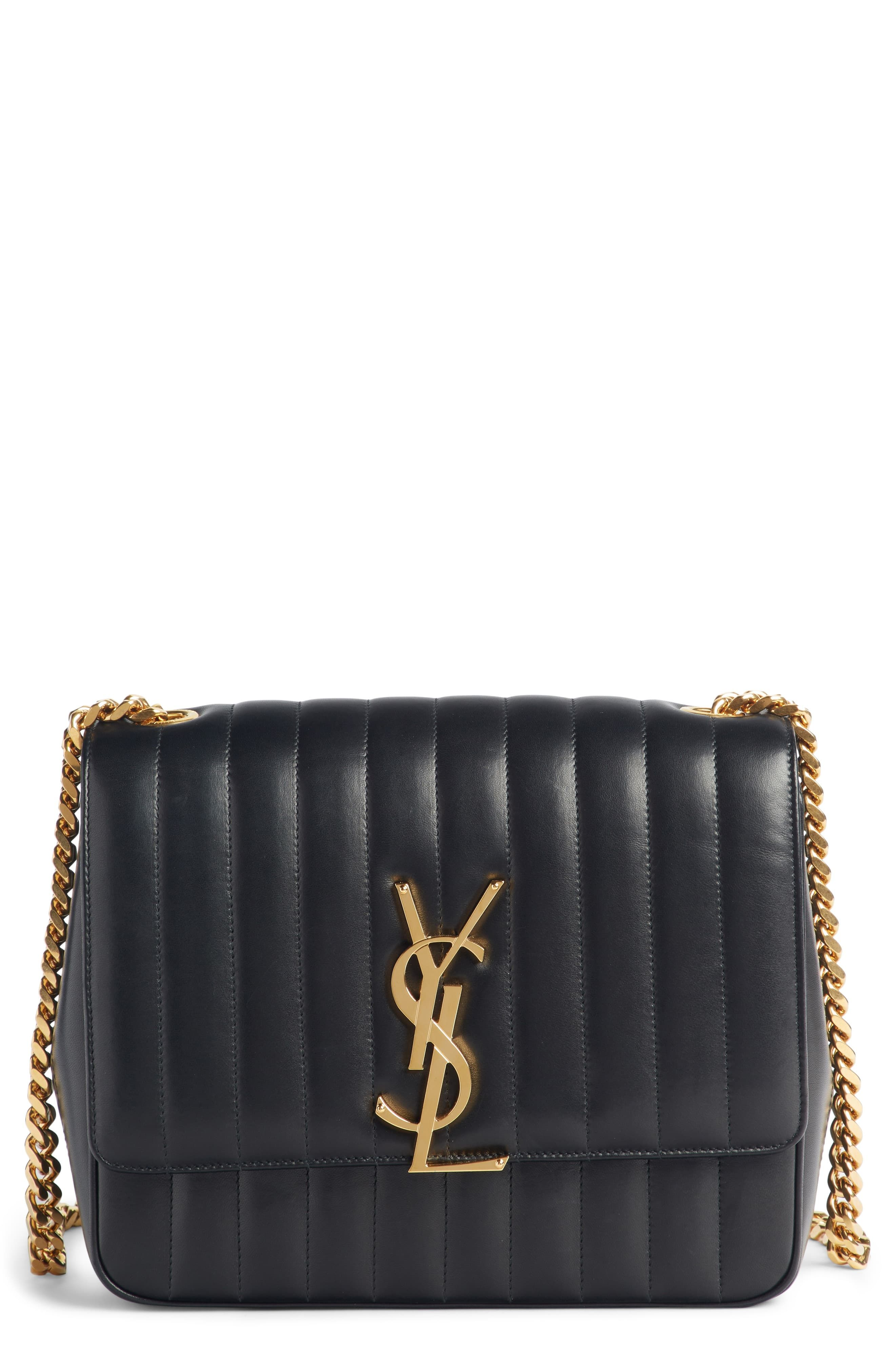 058c285375d Saint Laurent Large Vicky Leather Crossbody Bag - Black in 2019 ...