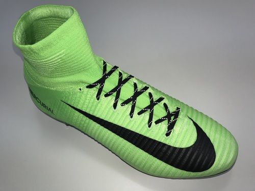 wholesale dealer b66be 4e67c SR4U Black Reflective Soccer Laces on Nike Mercurial Superfly 5 Radiation  Flare Pack
