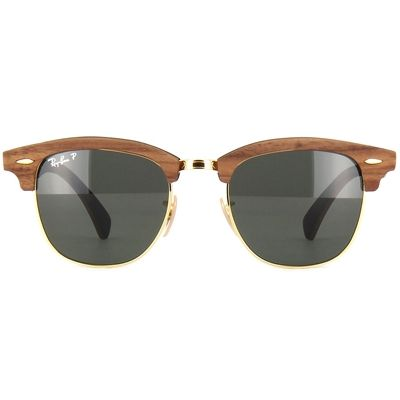 7ffc128c4 ... cheapest Óculos de sol ray ban clubmaster wood unissex polarizado lentes  verdes rb3016m118158 cc524 c120f