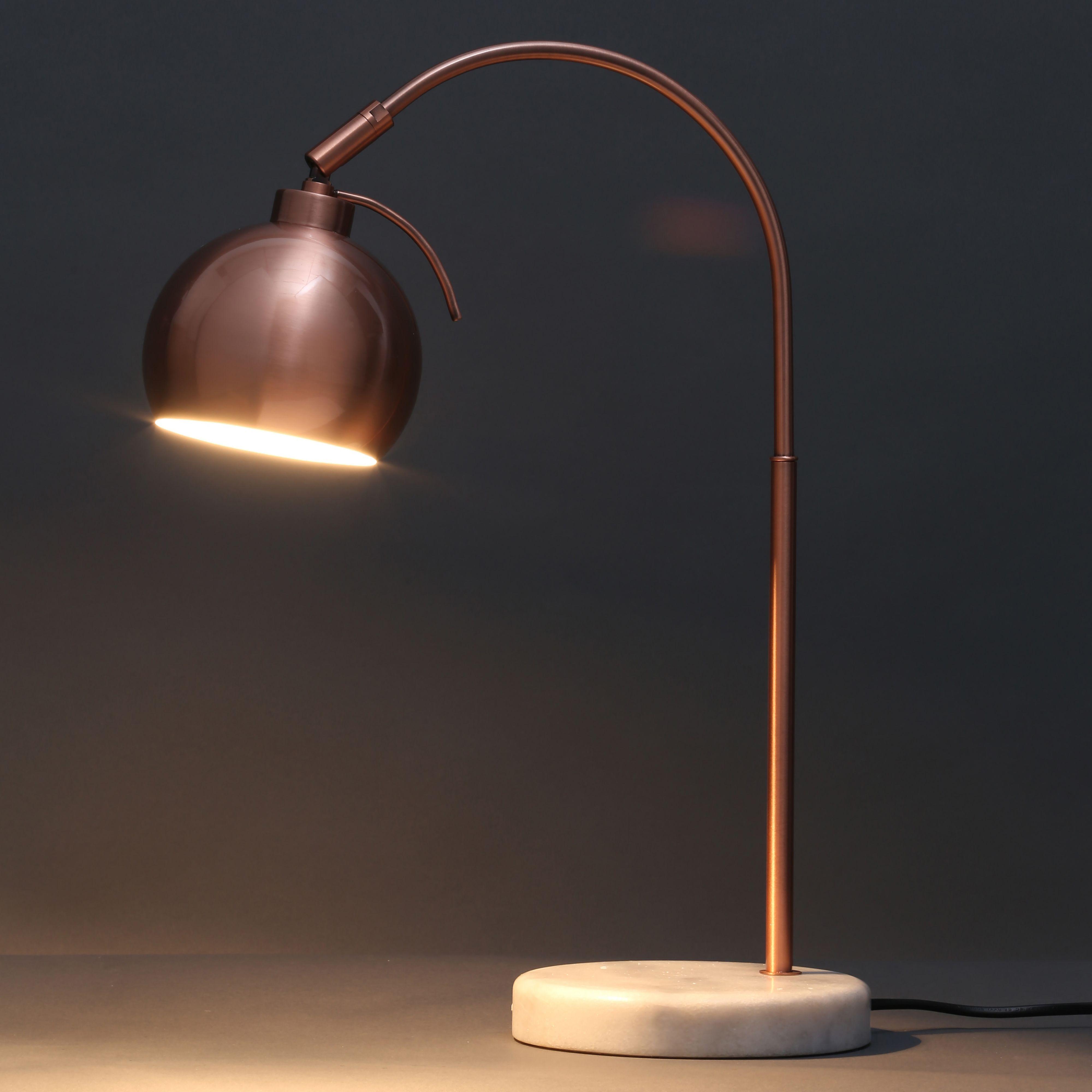 Arc Curve Copper Effect Table Lamp