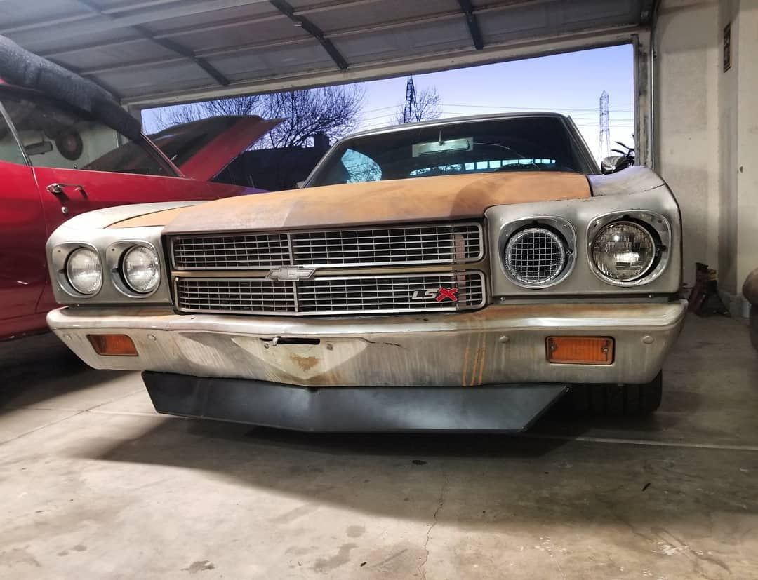 chevelle #becausess lsx swap grill emblem and spoiler forced