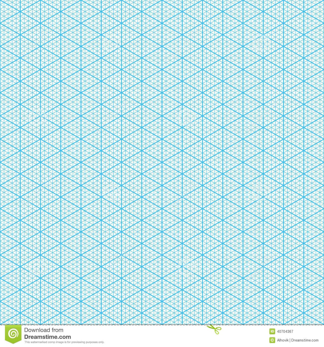 Isometric Graph Paper Seamless Illustration 40704367 1,300×1,390