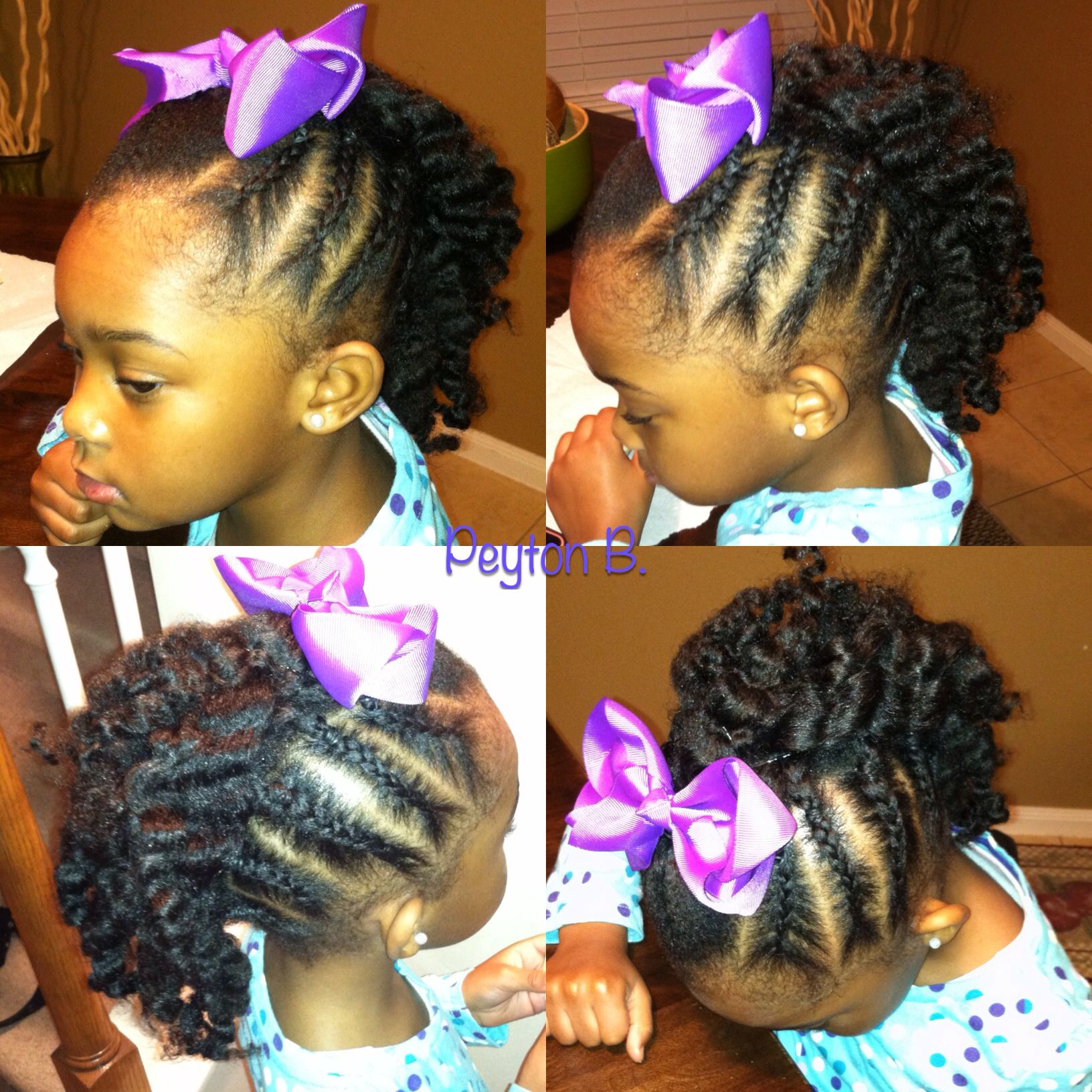 Braided mohawk with braidout in the middle natural hairstyles for