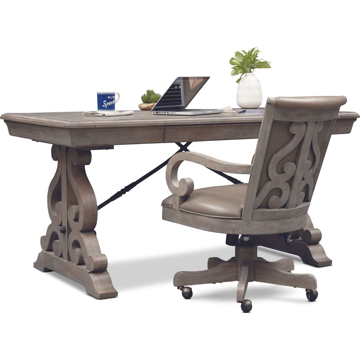 Charthouse Office Desk And Chair Set Value City Furniture And Mattresses Desk And Chair Set Furniture Reclining Furniture Office desk and chair set