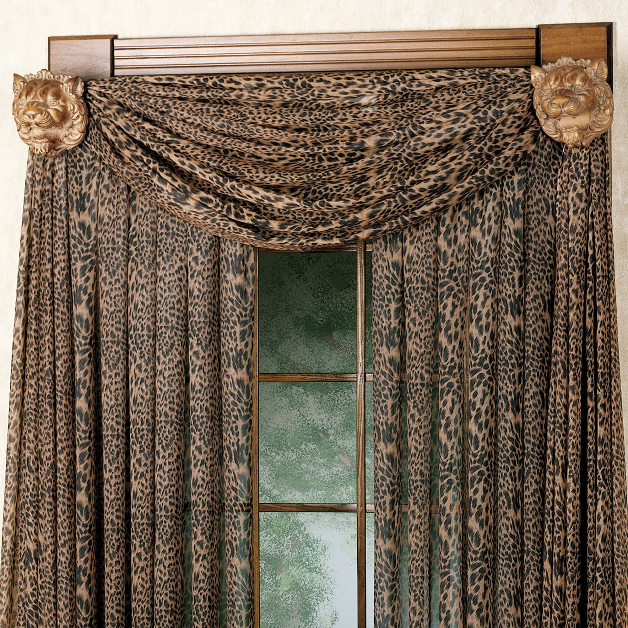 Leopard Curtains And Valance Want Them For My Living Room