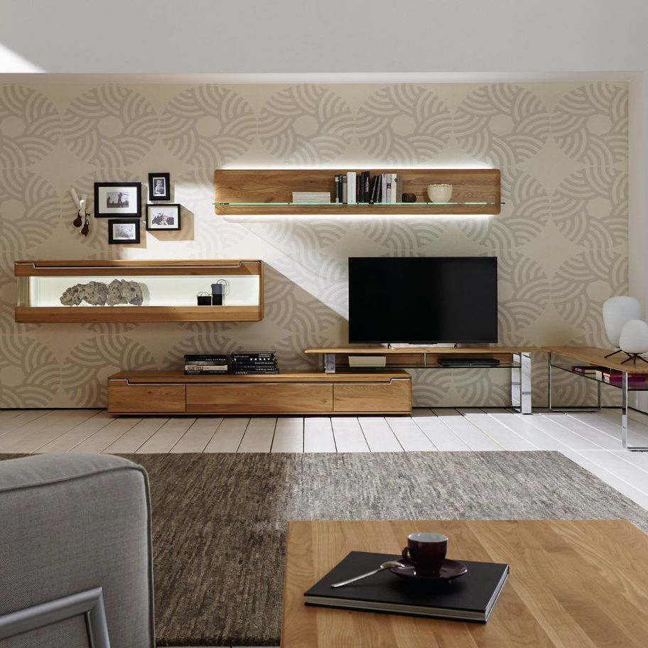 Ensemble mural tv contemporain en bois massif vedua hülsta solid wood furnituretrue valuewall unitsmodern livingsmart