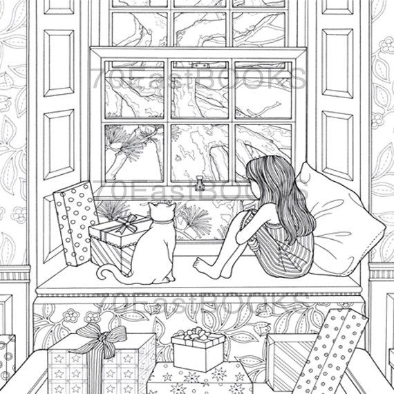 The Night Voyage The Present Coloring Book by by