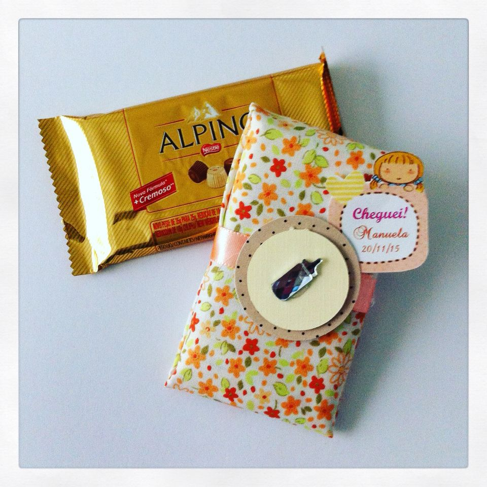 Barra de chocolate personalizada - tecido