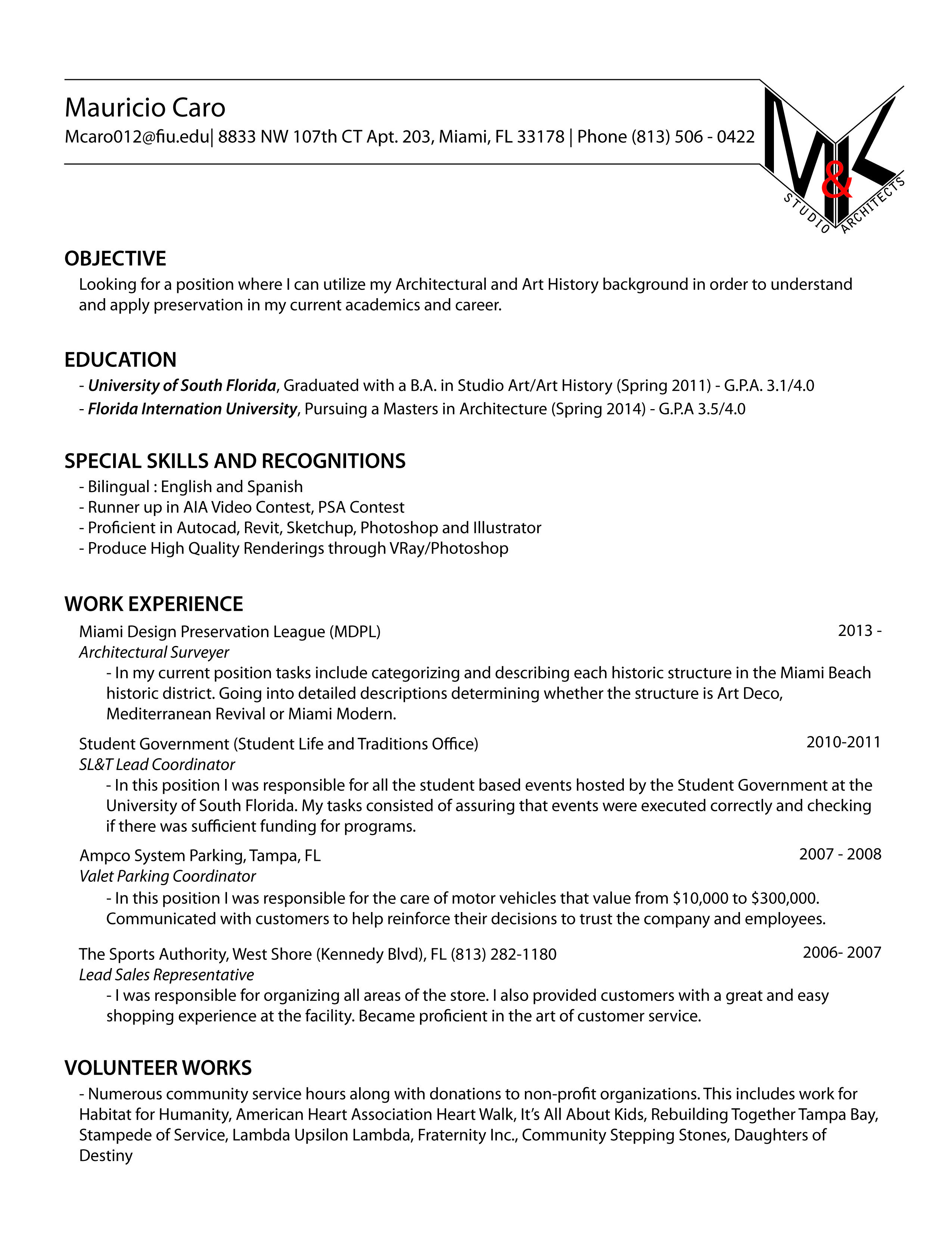 Fall 2013 Curriculum Vitae History Background Curriculum Vitae Curriculum