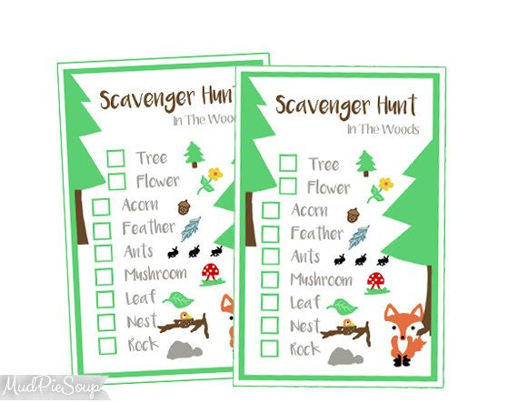 photo regarding Camping Scavenger Hunt Printable identified as Printable Mother nature Scavenger Hunt Video game Playing cards - Woods Tenting