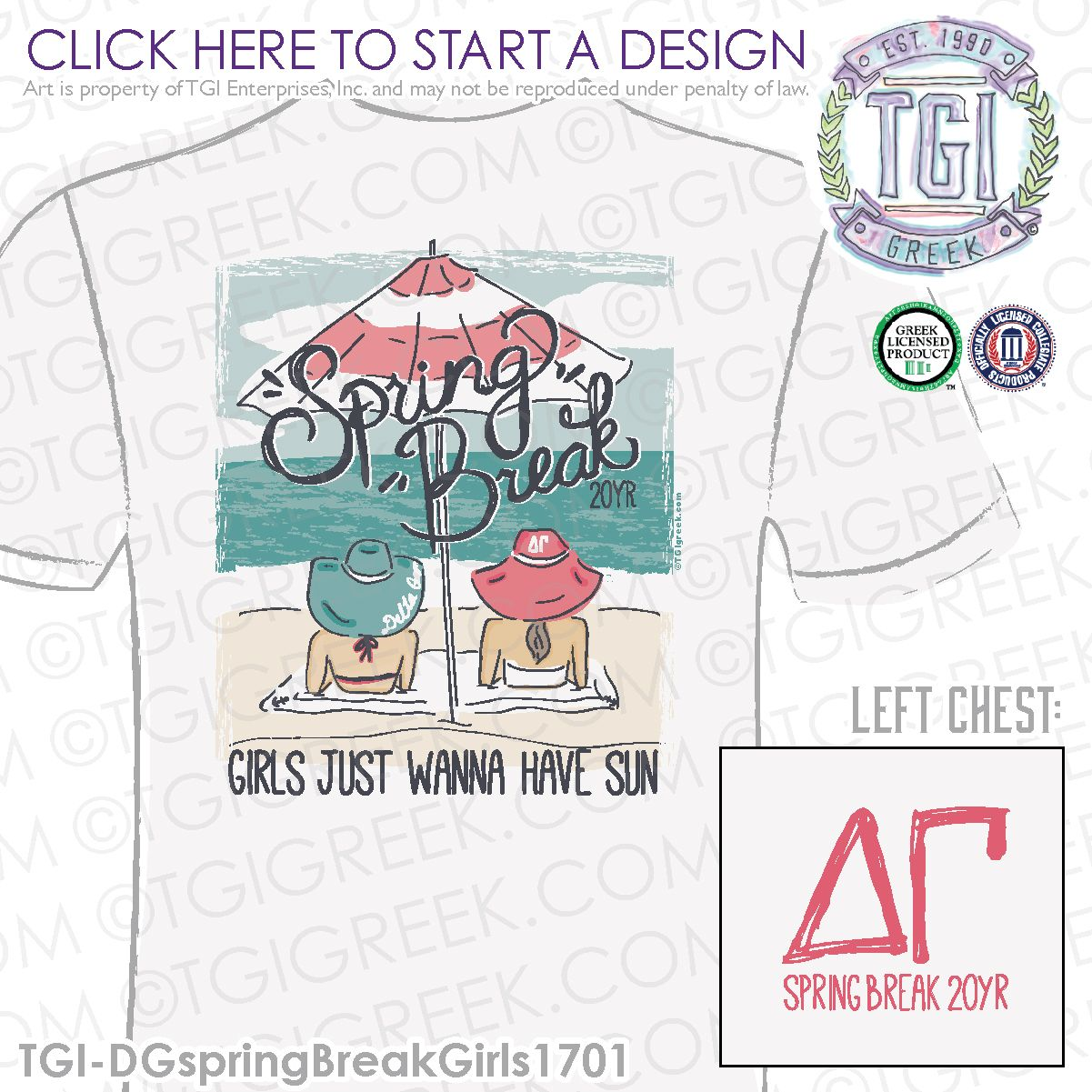 Delta Gamma ΔΓ Spring Break Spring Break Shirt